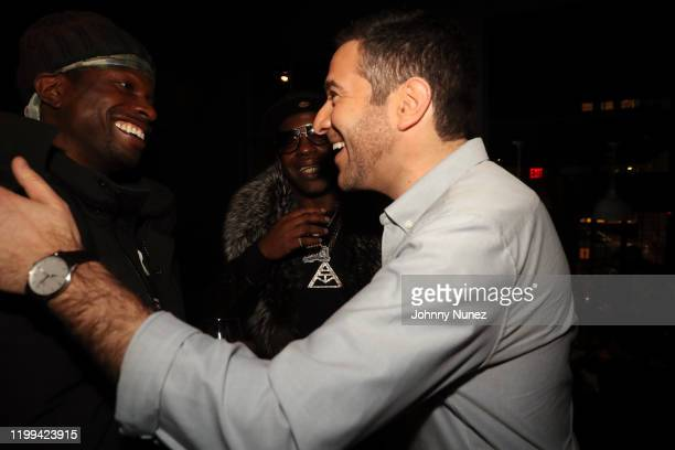 Brian B Dot Miller Uncle Murda and Ari Melber attend Uncle Murda's Album Release Party at Brooklyn Chop House on January 13 2020 in New York City