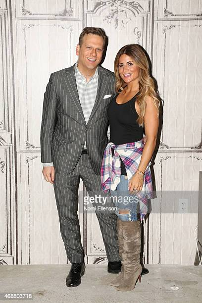 Brian Balthazar and Alison Victoria attend AOL BUILD Speaker Series presents Alison Victoria at AOL Studios In New York on April 7 2015 in New York...