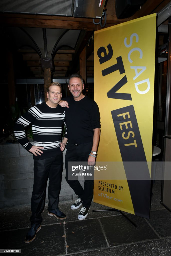 Brian Balthazar and Loren Ruch attend the SCAD aTVfest 2018 x EW Party at Lure on February 2, 2018 in Atlanta, Georgia.