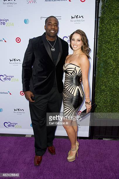 Brian Banks and Emmy Marino attend The Hollyrod Foundation's 16th Annual DesignCare at The Lot Studios on July 19 2014 in Los Angeles California