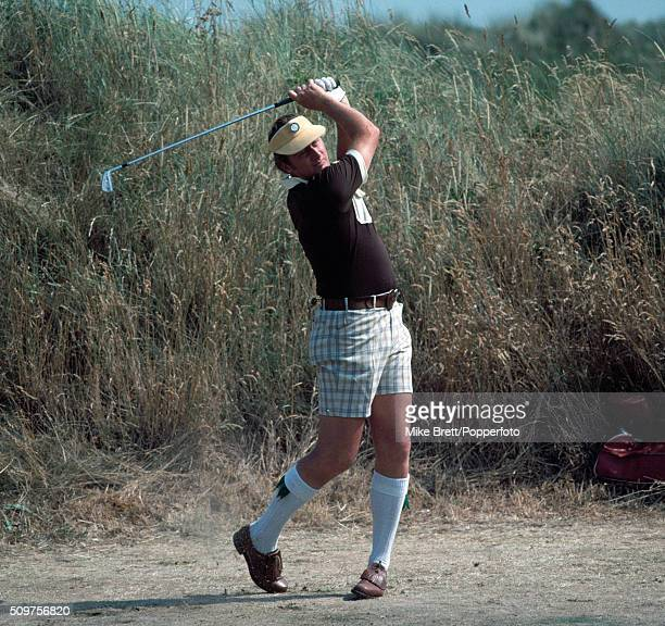 Brian Barnes of Scotland in action during the British Open Golf Championship at the Royal Birkdale Golf Club in Southport circa July 1976