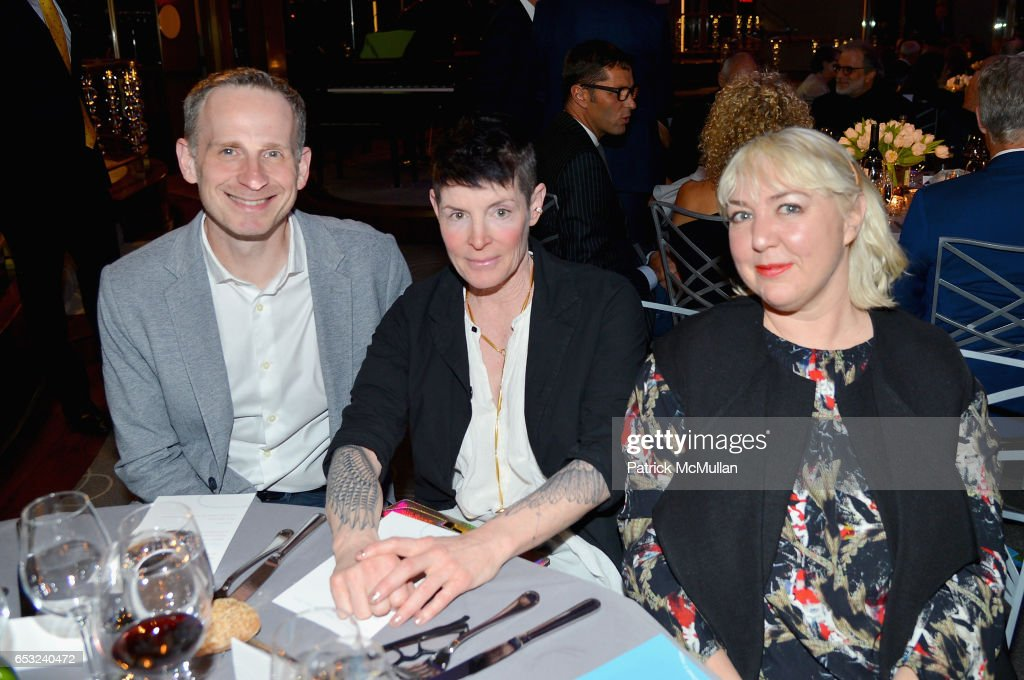 Brian Barnhart, Randy Sharp and Ariel Sheldon attend the Guild Hall Academy of the Arts Achievement Awards & Benefit Dinner at The Rainbow Room on March 13, 2017 in New York City.