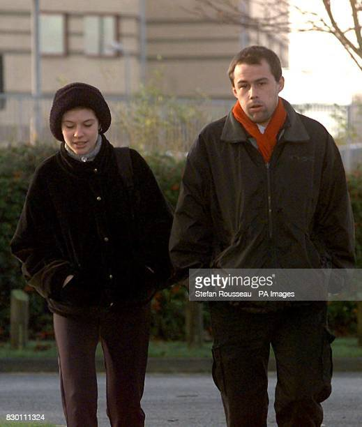 Brian Basquill and his girl friend Samantha Dawson arriving at Basildon Crown Court today December 16 where he alleges that he was attacked by Bill...