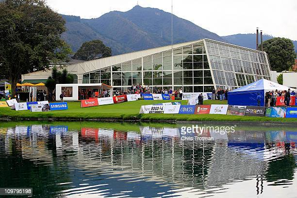 Brian Bateman tees off the 13th hole during the first round of the Pacific Rubiales Bogota Open Presented by Samsung at Country Club de Bogota on...