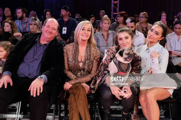 Brian Baumgartner Bo Derek Leslie Mosier Doug the Pug and Olivia Culpo attend the 2020 Beverly Hills Dog Show at the Los Angeles County Fairplex on...