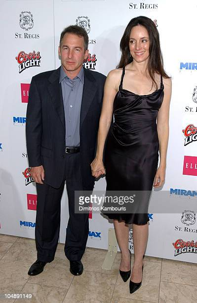 Brian Benben and Madeleine Stowe during Miramax 2003 MAX Awards Arrivals at St Regis Hotel in Los Angeles California United States