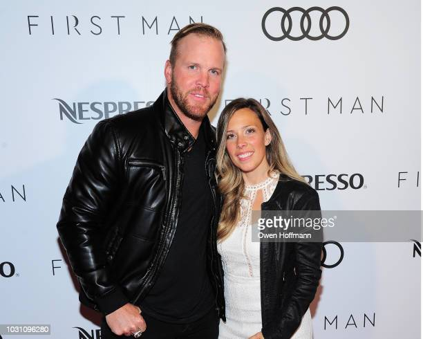 Brian Bickell and Amanda Bickell attend Audi Canada And Nespresso Host The PostScreening Event For First Man During The Toronto International Film...
