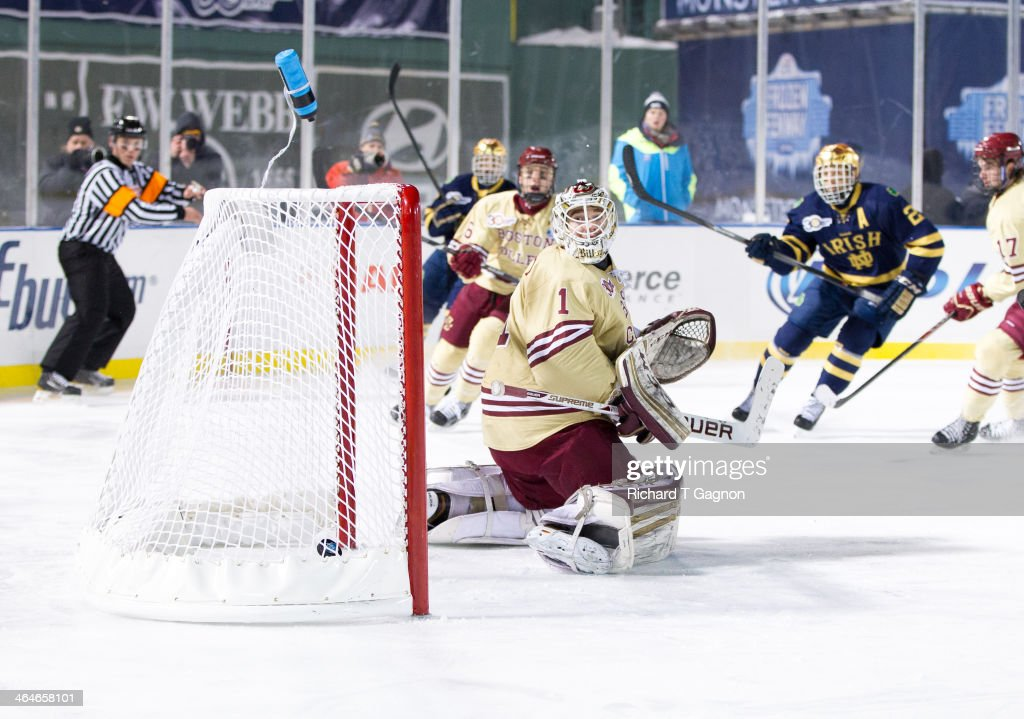 Frozen Fenway 2014: Notre Dame v Boston College : News Photo