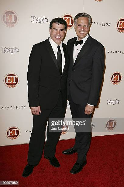 Brian Blatt and partner arrives at Vibiana for the 13th Annual Entertainment Tonight and People magazine Emmys After Party on September 20, 2009 in...