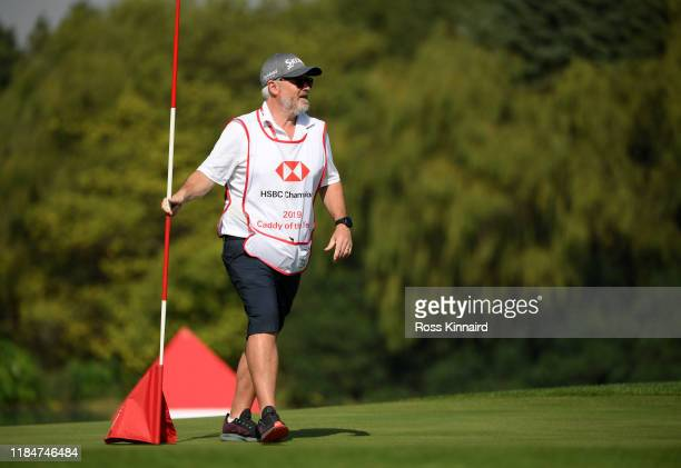 Brian Bo Martin Caddy of the Year on the second green during Day Two of the WGC HSBC Champions at Sheshan International Golf Club on November 01 2019...