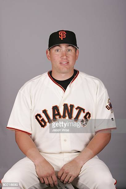 Brian Bocock of the San Francisco Giants poses for a portrait during photo day at Scottsdale Stadium on February 27 2008 in Scottsdale Arizona