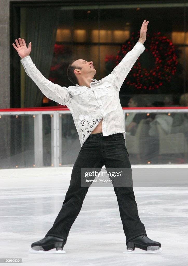 Brian Boitano skates on the Today Show at The Rink at Rockefeller Center on December 14, 2007 in New York City.