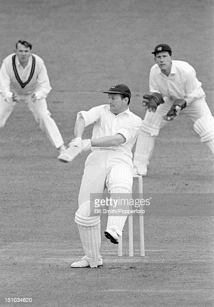 Brian Bolus batting for Nottinghamshire during their Gillette Cup 2nd round match against Northamptonshire at the County Ground in Northampton 13th...