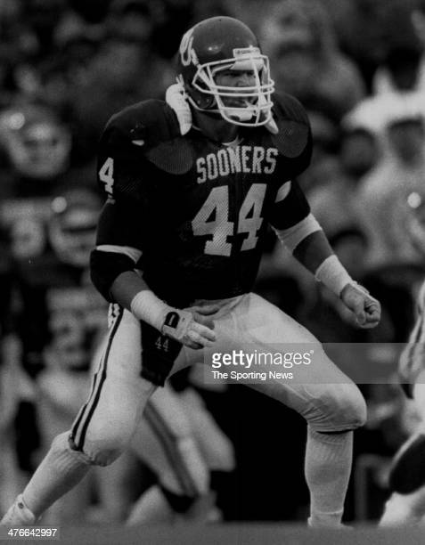 Brian Bosworth of the Oklahoma Sooners circa 1985 in Norman Oklahoma