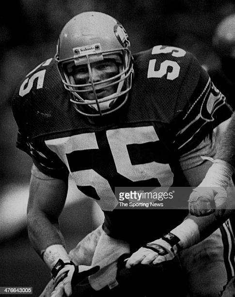 Brian Bosworth of the Seattle Seahawks circa 1988