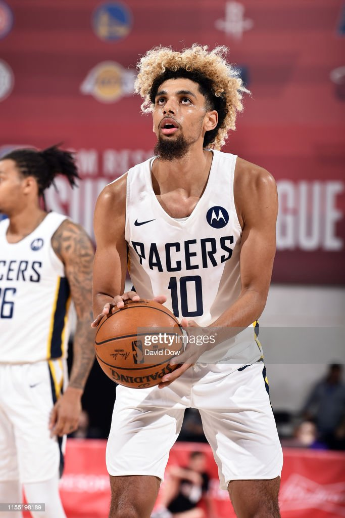 size 40 189d9 ddbde Brian Bowen II of the Indiana Pacers shoots a free throw ...