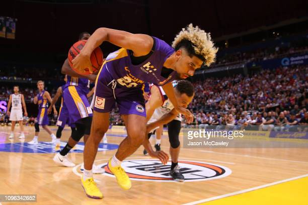 Brian Bowen of the Kings during the round 14 NBL match between the Sydney Kings and the Adelaide 36ers at Qudos Bank Arena on January 19, 2019 in...