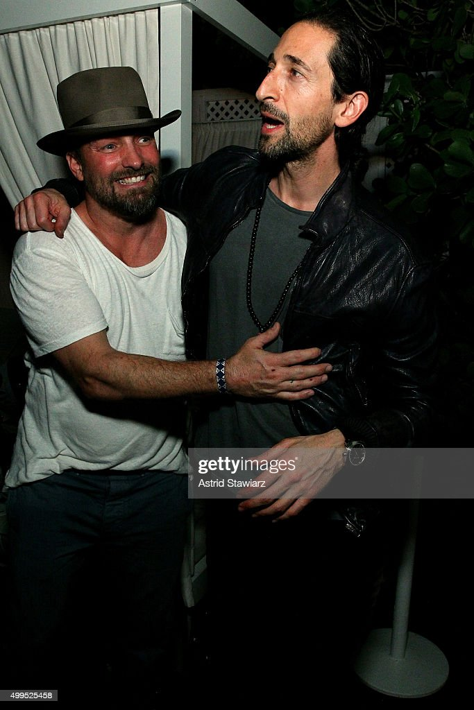Brian Bowen Smith and Adrien Brody attends DuJour magazine's Jason Binn Celebrates Annual Art Basel Miami Beach Kick-Off Party presented by Blackberry PRIV & 50 Bleu at Delano Beach Club on December 1, 2015 in Miami Beach, Florida.