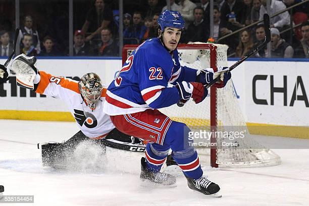 Brian Boyle New York Rangers in action during the New York Rangers Vs Philadelphia Flyers NHL regular season game at Madison Square Garden New York...