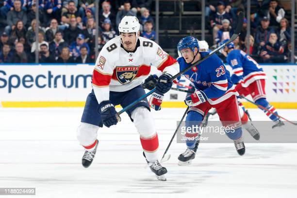 Brian Boyle of the Florida Panthers skates against the New York Rangers at Madison Square Garden on November 10 2019 in New York City