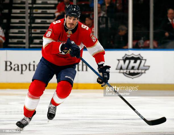 Brian Boyle of the Florida Panthers skates for position against the Washington Capitals at the BBT Center on November 7 2019 in Sunrise Florida