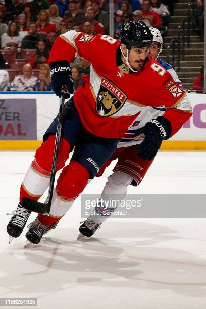 Brian Boyle of the Florida Panthers skates for position against the New York Rangers at the BBT Center on November 16 2019 in Sunrise Florida