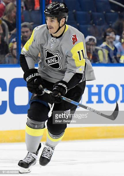 Brian Boyle of the New Jersey Devils plays in the 2018 Honda NHL AllStar Game between the Atlantic Division and the Metropolitan Divison at Amalie...