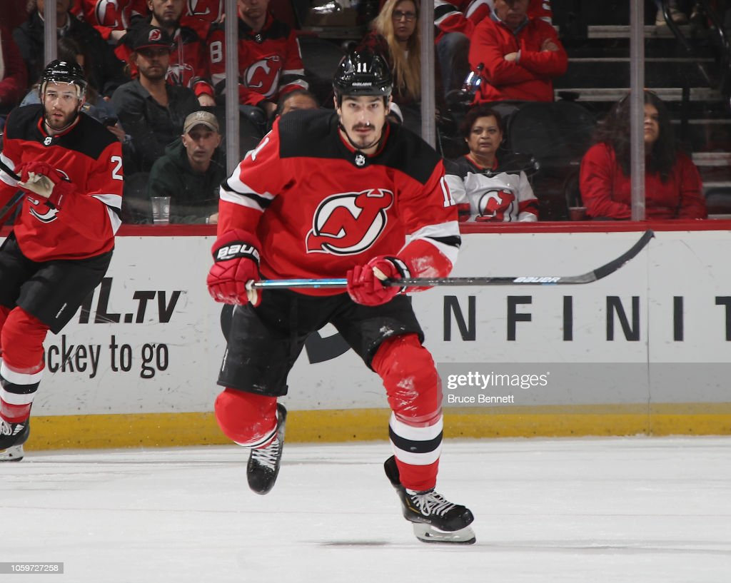 new photos 24333 117ba Brian Boyle of the New Jersey Devils skates in his 700th NHL ...