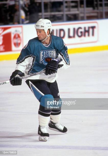 Brian Bradley of the Eastern Conference and the Tampa Bay Lightning skates on the ice during the 1994 45th NHL AllStar Game against the Western...