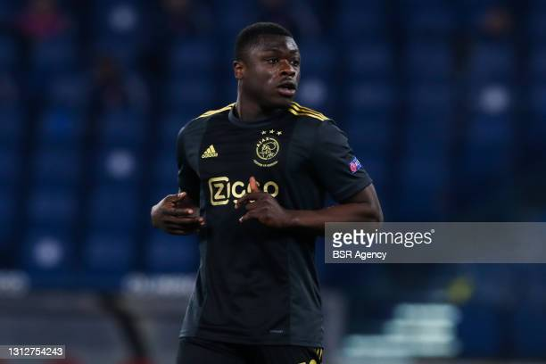 Brian Brobbey of Ajax during the UEFA Europa League Quarter Final: Leg Two match between AS Roma and Ajax at Stadio Olimpico on April 15, 2021 in...