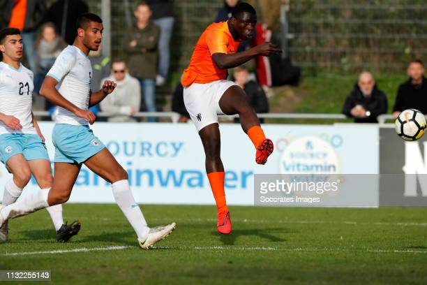 Brian Brobbey of Holland U17 during the match between Holland U17 v Israel U17 at the Sportpark Zegersloot on March 23 2019 in Alphen a/d Rijn...