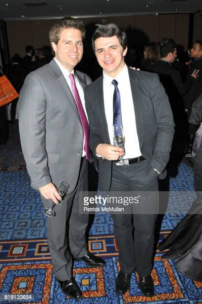 Brian Burlingame and Marcones Macedo attend 21st Annual GLAAD Media Awards at Marriott Marquis on March 13 2010 in New York City