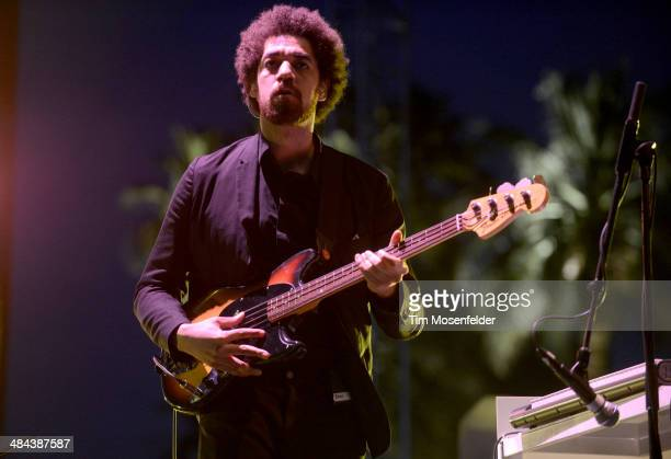 Brian Burton aka Danger Mouse of Broken Bells performs at The Empire Polo Club on April 11 2014 in Indio California