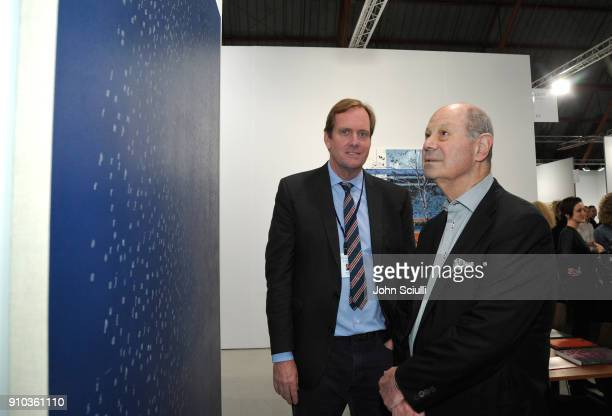 Brian Butler and Cliff Einstein at OPENING NIGHT   ART LOS ANGELES CONTEMPORARY 9TH EDITION at Barkar Hangar on January 25 2018 in Santa Monica...