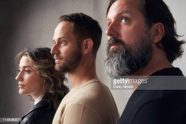 Brian C Miller Richard Hunter Burke and Teri Wyble of the film 'Lost Bayou' poses for a portrait during the 2019 Tribeca Film Festival at Spring...