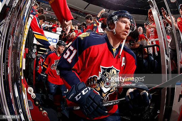 Brian Campbell of the Florida Panthers heads out to the ice prior to the puck drop in Game Five of the Eastern Conference First Round against the New...