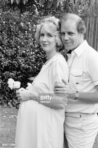 Brian Cant children's television presenter pictured with wife writer and director Cherry Britton who is seven months pregnant the couple are...