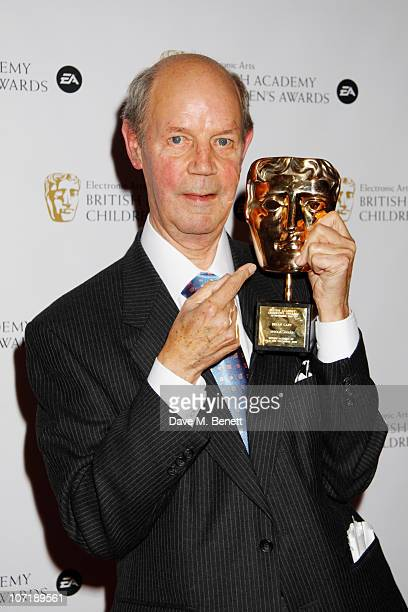 Brian Cant poses with his Special Award for his contribution to children's television at the EA British Academy Children's Awards 2010 at London...