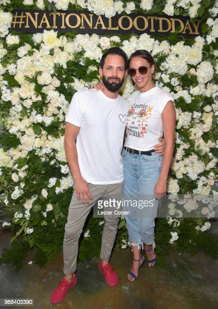 Brian Carter and Kristen Doute attend National OOTD Day x Stassi Schroeder at Pump on June 30 2018 in West Hollywood California