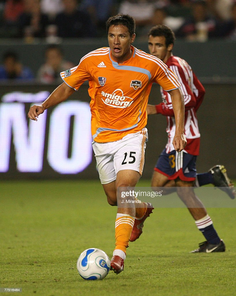 Brian Ching #25 of Houston Dynamo in action against Chivas USA at The Home Depot Center October 20, 2007 in Carson, California. Chivas takes the regular season Western Conference title following a scoreless draw with Dynamo.