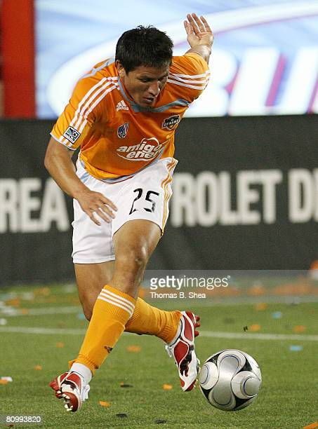 Brian Ching of the Houston Dynamo against the Chivas USA on May 3 2008 at Robertson Stadium in Houston Texas