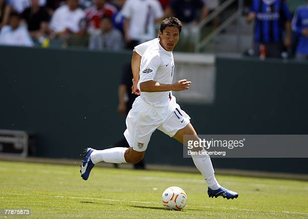 Brian Ching of the United States during the 2007 CONACAF Gold Cup at the Home Depot Center in Carson California on June 9 2007 The United States...
