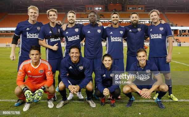 Brian ChingMia HammStuart HoldenAlexi LalasKade SpeiserEuan HoldenEddie JohnsonChris WondolowskiClint Dempsey and Bode Miller during the Kick In For...
