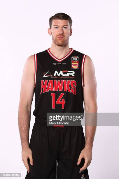 Brian Conklin of Illawarra Hawks poses during the 2018/19 NBL media day at Bendigo Stadium on September 21 2018 in Bendigo Australia