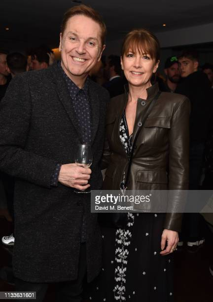 """Brian Conley and Anne-Marie Conley attend an after party to celebrate Louise Redknapp rejoining the cast of """"9 To 5: The Musical"""" at The Hospital..."""