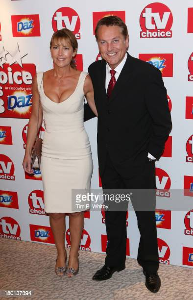 Brian Conley and AnneMarie Conley attend the TV Choice Awards 2013 at The Dorchester on September 9 2013 in London England