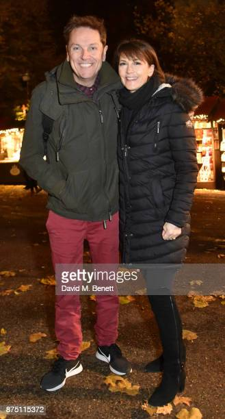 Brian Conley and AnneMarie Conley attend the VIP launch of Hyde Park Winter Wonderland 2017 on November 16 2017 in London England