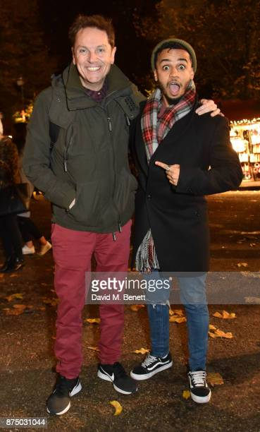 Brian Conley and Aston Merrygold attend the VIP launch of Hyde Park Winter Wonderland 2017 on November 16 2017 in London England