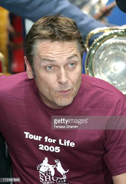 Brian Conley during 'Chitty Chitty Bang Bang' Cast Tour For Life Photocall at London Palladium Theatre in London Great Britain