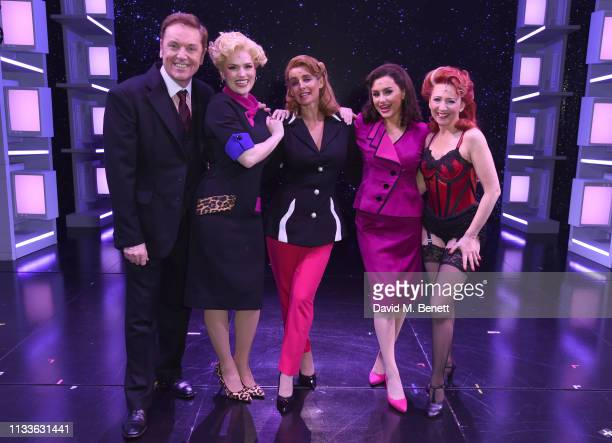 Brian Conley Natalie McQueen Louise Redknapp Amber Davies and Bonnie Langford attend as Louise Redknapp rejoins the cast of 9 To 5 The Musical at The...